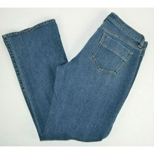 Old Navy Sweetheart Boot Cut Blue Jeans 10 SHORT